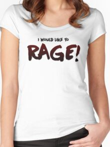 I would like to RAGE! (Variant) - Critical Role Quotes Women's Fitted Scoop T-Shirt