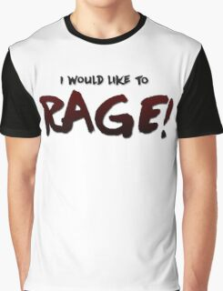 I would like to RAGE! (Variant) - Critical Role Quotes Graphic T-Shirt
