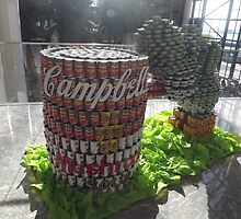 Can Sculpture, Canstruction, Sculptures Made of Cans, New York City by lenspiro