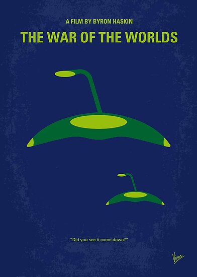 No118 My WAR OF THE WORLDS minimal movie poster by Chungkong