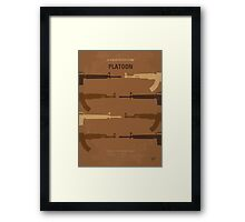 No115 My Platoon minimal movie poster Framed Print