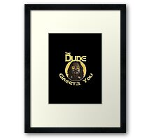 The Dude - Greets You Framed Print