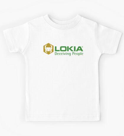 A Shady Asgardian Phone Company (Green and Gold) Kids Tee