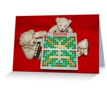 Teddy Bear Challenge Game of Scrabble Greeting Card