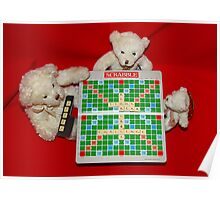 Teddy Bear Challenge Game of Scrabble Poster