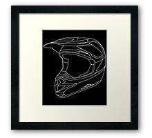 Mx Helmet White Framed Print