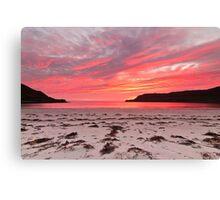 Sunset at Calgary Bay Canvas Print