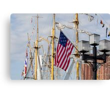 Tall Ships In Baltimore - 3 Canvas Print