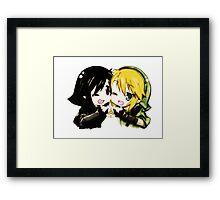 Link and Dark Link Chibi Framed Print