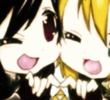 Link and Dark Link Chibi Sticker