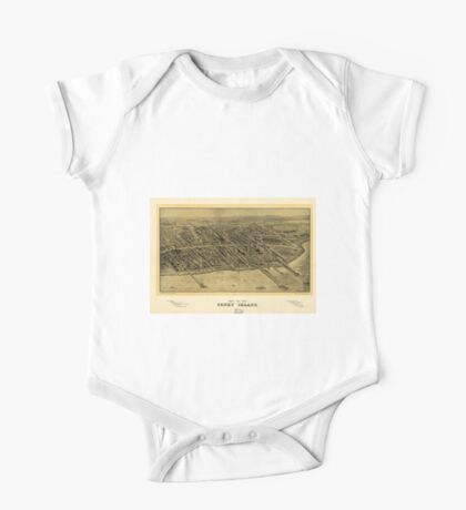 Panoramic Maps Bird's eye view Coney Island One Piece - Short Sleeve