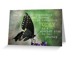 Her Birthday Journey Greeting Card