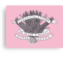 Congratulations - pink Canvas Print