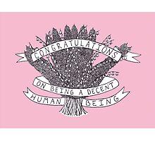 Congratulations - pink Photographic Print