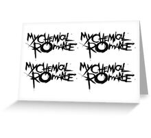 My Chemical Romance, blurry  Greeting Card