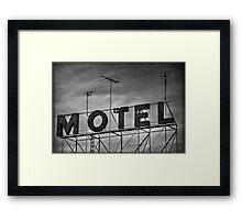 Motel # 1 Framed Print
