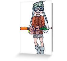 Christmas Splatoon Inkling  Greeting Card