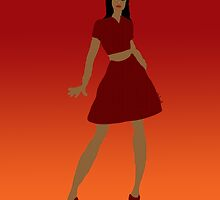 Woman in Red  by kreativekate