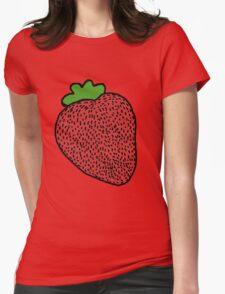 Strawberry Fruit Womens Fitted T-Shirt