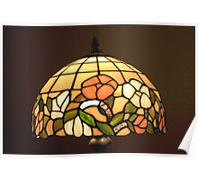 Stained Glass Table Lampshade Poster