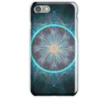 Case fractal art black and green iPhone Case/Skin