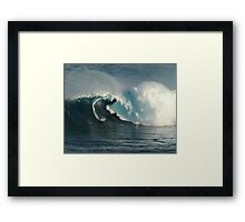 Big Wave Surfing at Peahi Framed Print