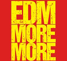 EDM MORE MORE (yellow) Womens Fitted T-Shirt
