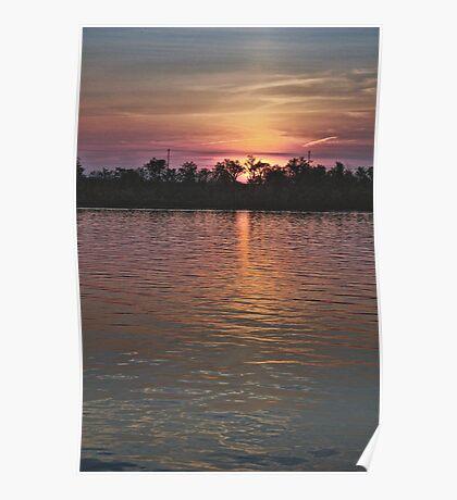 Sunset over Shenango Poster