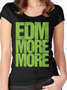 EDM MORE MORE (neon green) Women's Fitted Scoop T-Shirt