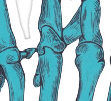 Rock On Skeleton Hand - Blue Sticker
