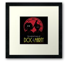 The Adventures of Doc & Marty Framed Print