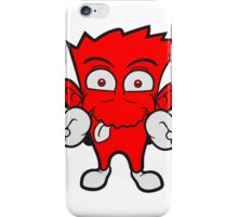Victory peace sign hands fingers crazy funny iPhone Case/Skin