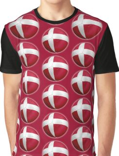 Denmark - Danish Flag - Football or Soccer 2 Graphic T-Shirt