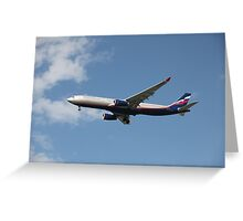 Airplane in the air Greeting Card