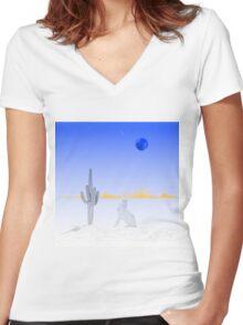 Moonlight Women's Fitted V-Neck T-Shirt