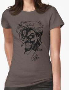 Joker - Black Womens Fitted T-Shirt