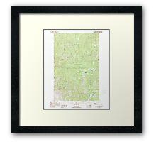 USGS Topo Map Washington State WA Loup Loup Summit 242080 1989 24000 Framed Print