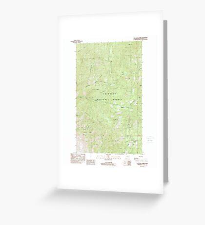 USGS Topo Map Washington State WA Loup Loup Summit 242080 1989 24000 Greeting Card