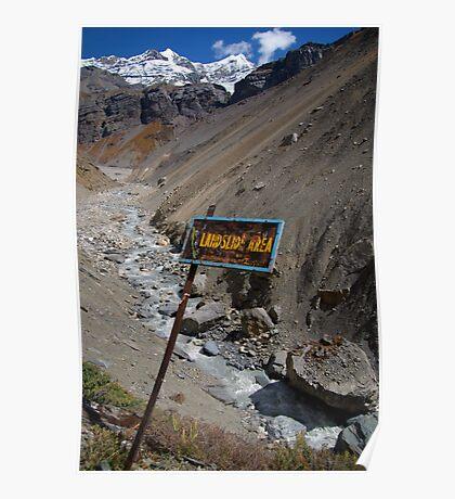 Landslide Area near Thorung Phedi Poster