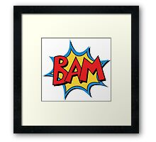 COMIC BOOK: BAM! Framed Print