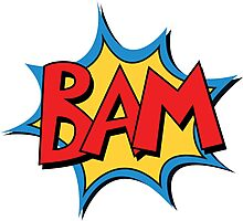 COMIC BOOK: BAM! Photographic Print
