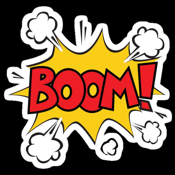 """COMIC BOOK: BOOM!"" Stickers by MDRMDRMDR | Redbubble"