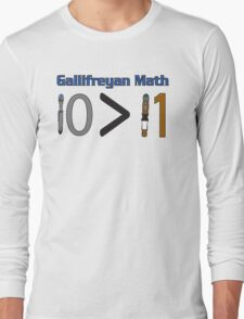 Gallifreyan Math Long Sleeve T-Shirt