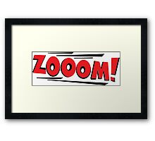 COMIC BOOK: ZOOM Framed Print