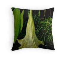 Angels Trumpet Hanging Blossom Throw Pillow