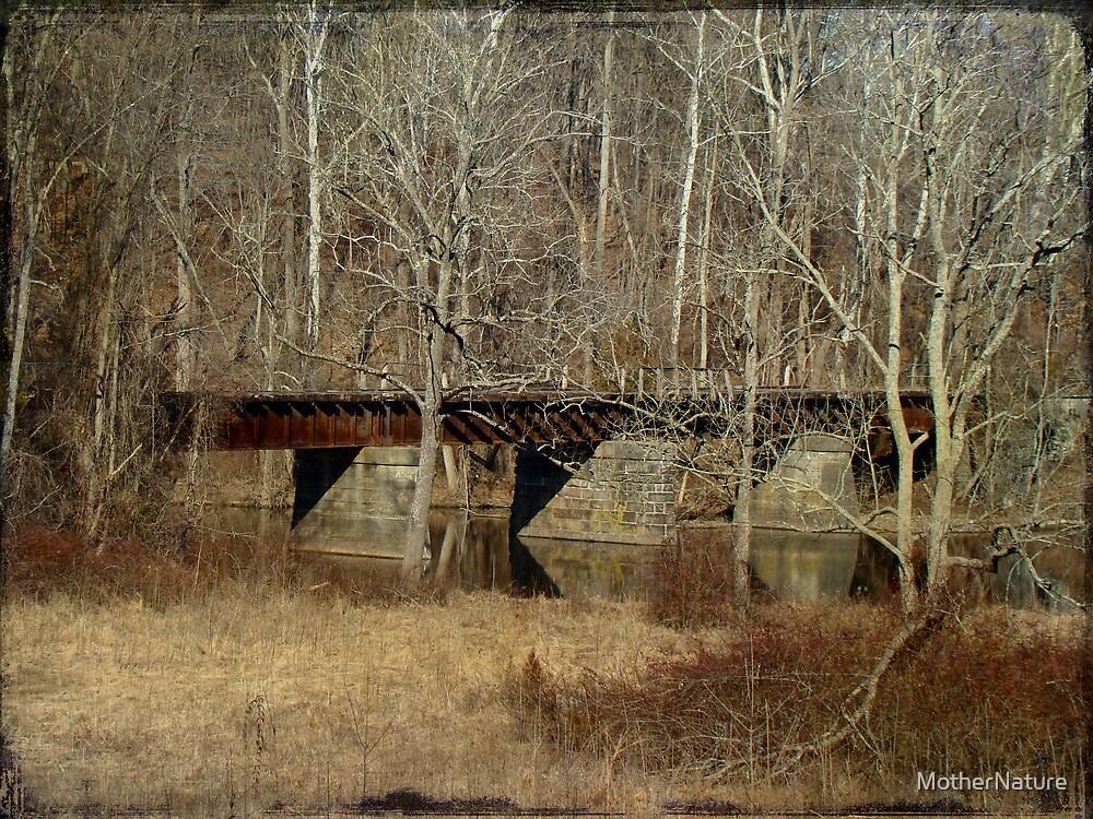 Derelict Railroad Bridge - Green Lane Reservoir - Pennsylvania by MotherNature