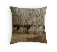 Derelict Railroad Bridge - Green Lane Reservoir - Pennsylvania Throw Pillow