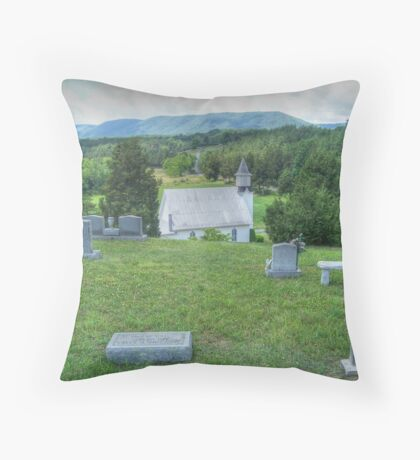 Little Church In The Valley Throw Pillow