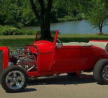 1928 Ford Model A Roadster Hot Rod by TeeMack
