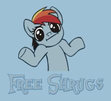 Rainbow Dash: Free Shrugs Kids Tee